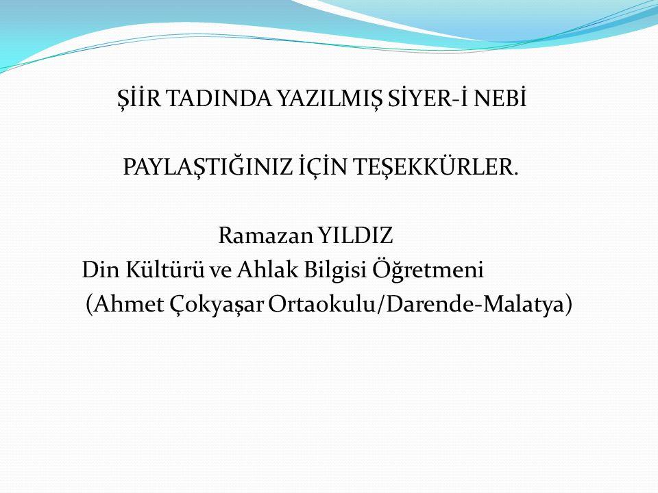(Ahmet Çokyaşar Ortaokulu/Darende-Malatya)