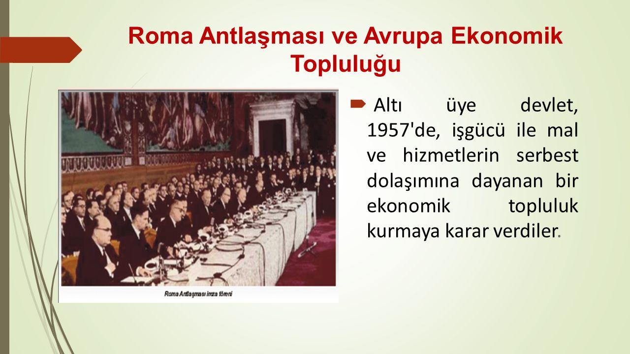 Roma Antlaşması ve Avrupa Ekonomik Topluluğu