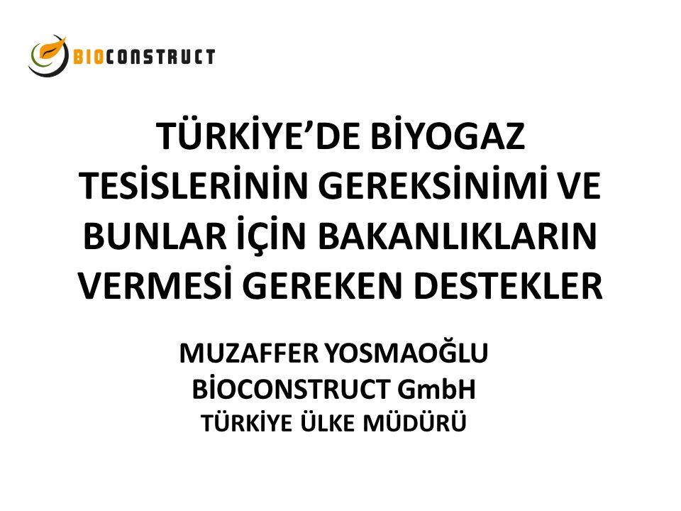 MUZAFFER YOSMAOĞLU BİOCONSTRUCT GmbH TÜRKİYE ÜLKE MÜDÜRÜ