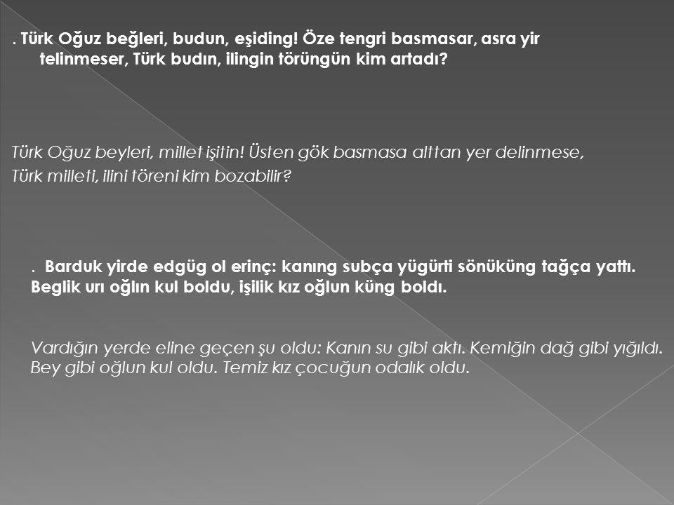 Türk milleti, ilini töreni kim bozabilir