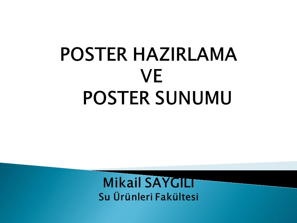 POSTER HAZIRLAMA VE POSTER SUNUMU