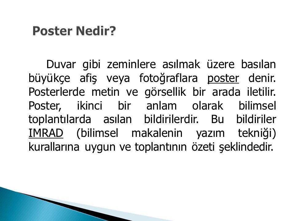 Poster Nedir