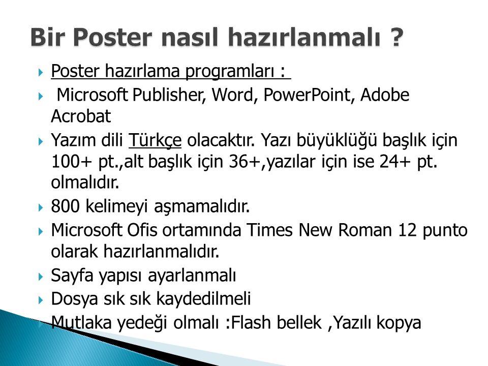 Bir Poster nasıl hazırlanmalı