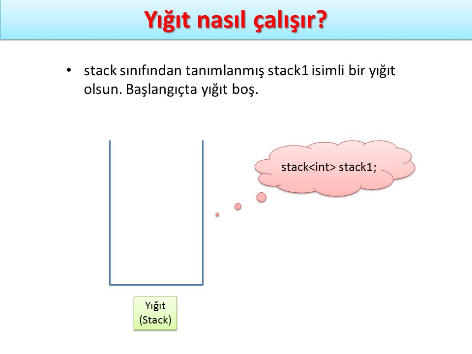 stack<int> stack1;