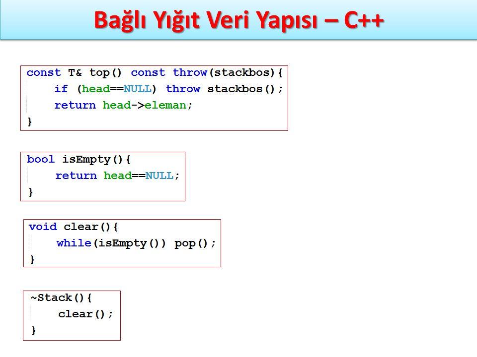 Bağlı Yığıt Veri Yapısı – C++