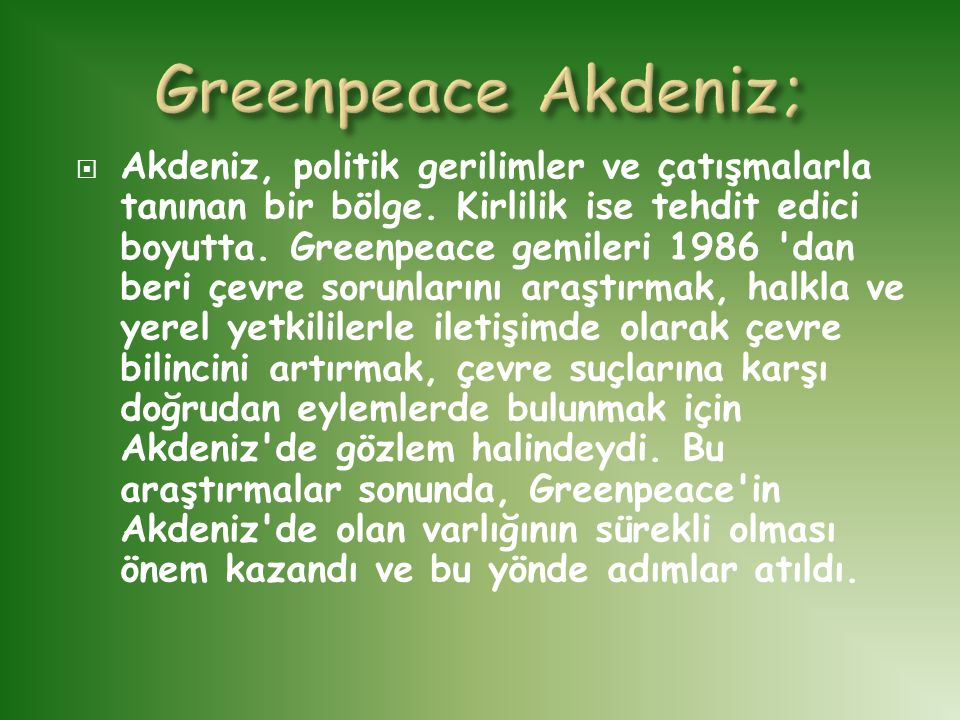 Greenpeace Akdeniz;