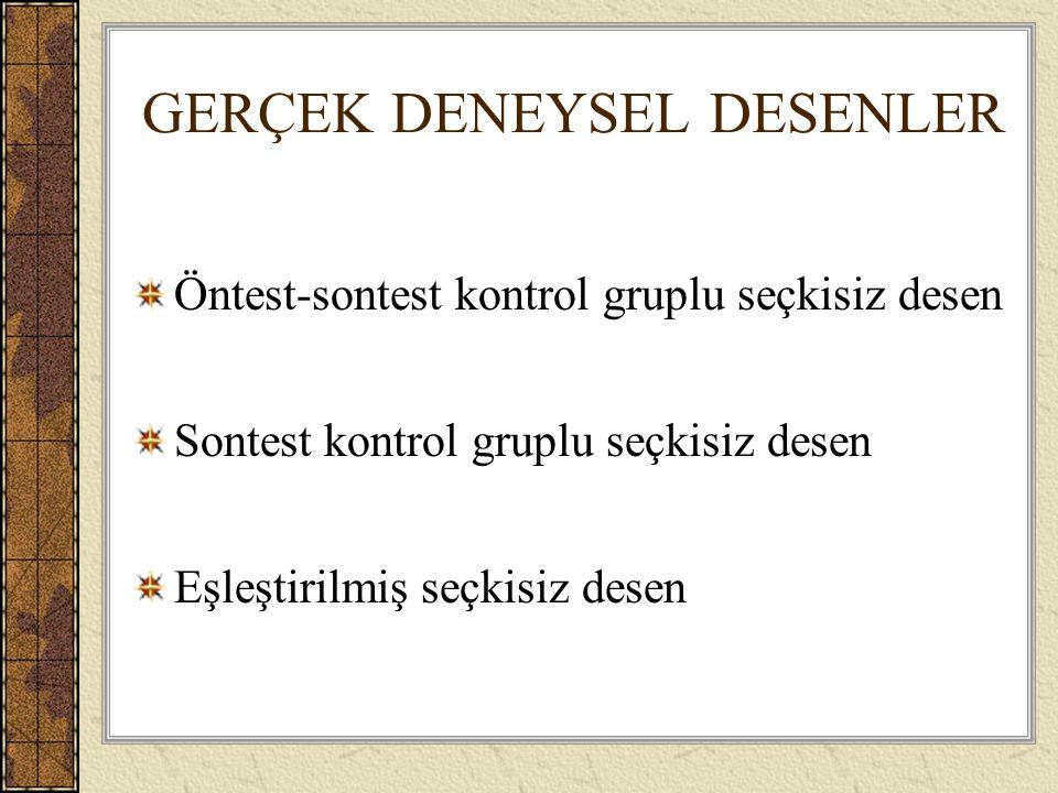 GERÇEK DENEYSEL DESENLER
