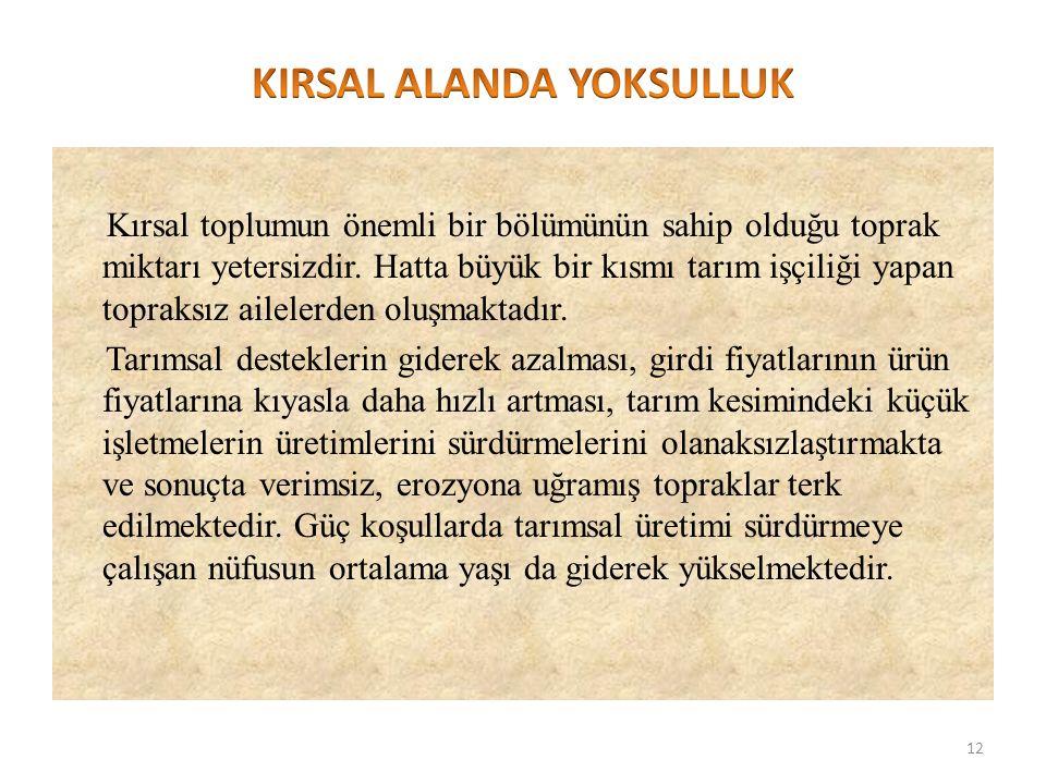 KIRSAL ALANDA YOKSULLUK