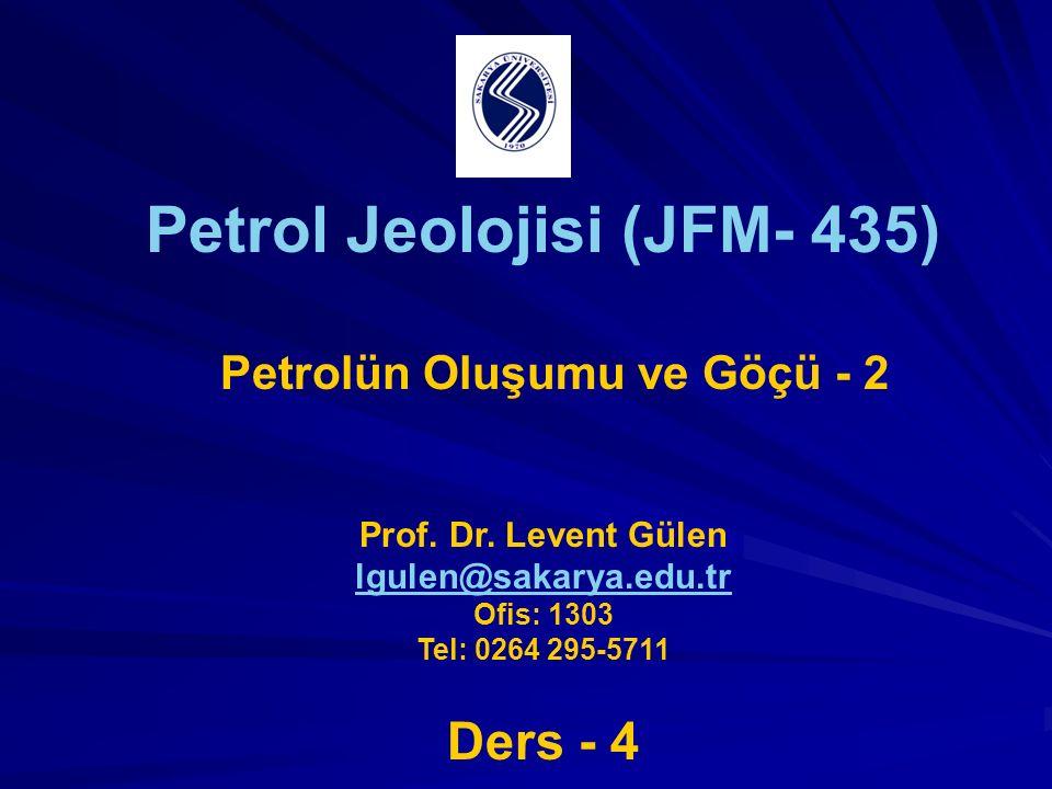 Petrol Jeolojisi (JFM- 435)