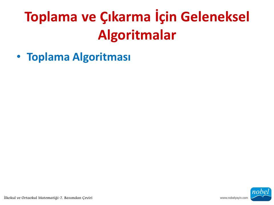 Toplama ve Çıkarma İçin Geleneksel Algoritmalar