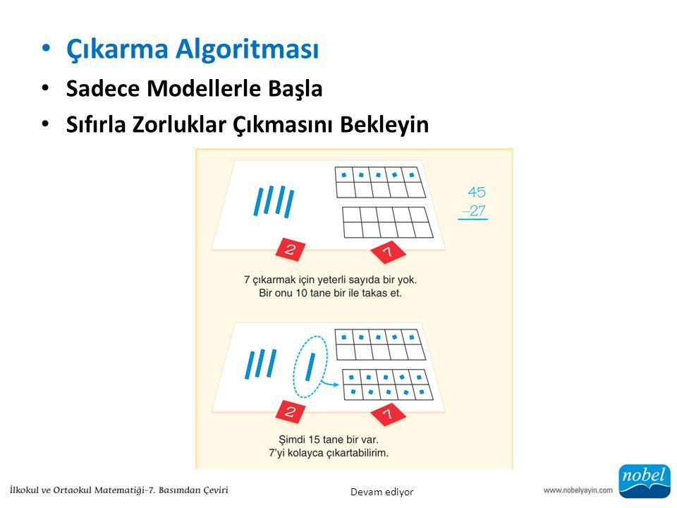 Çıkarma Algoritması Sadece Modellerle Başla