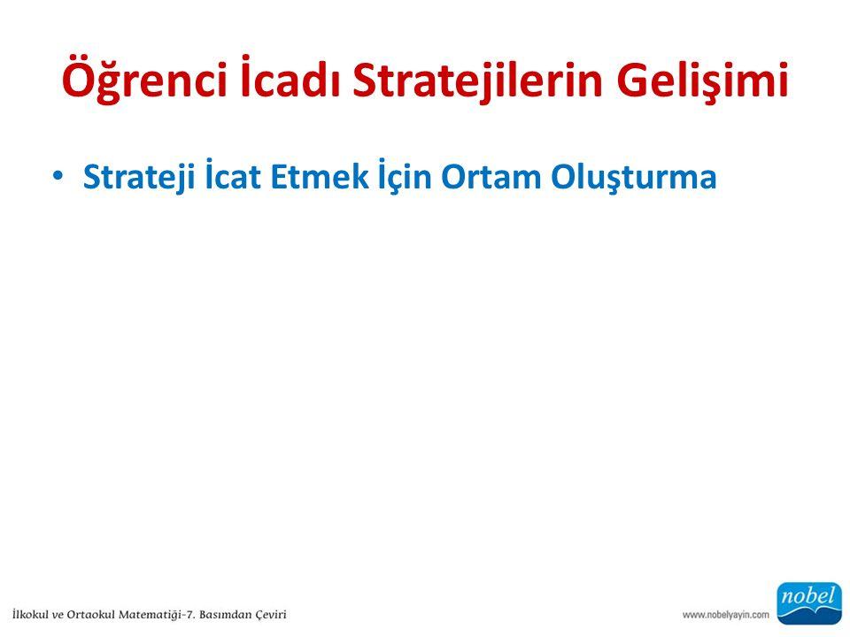 Öğrenci İcadı Stratejilerin Gelişimi