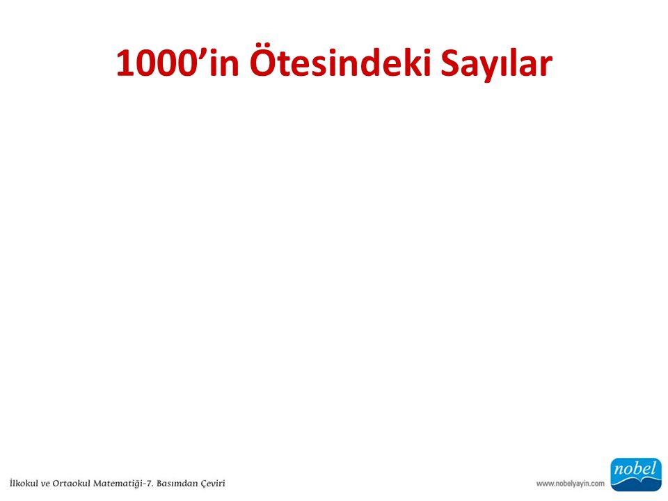 1000'in Ötesindeki Sayılar
