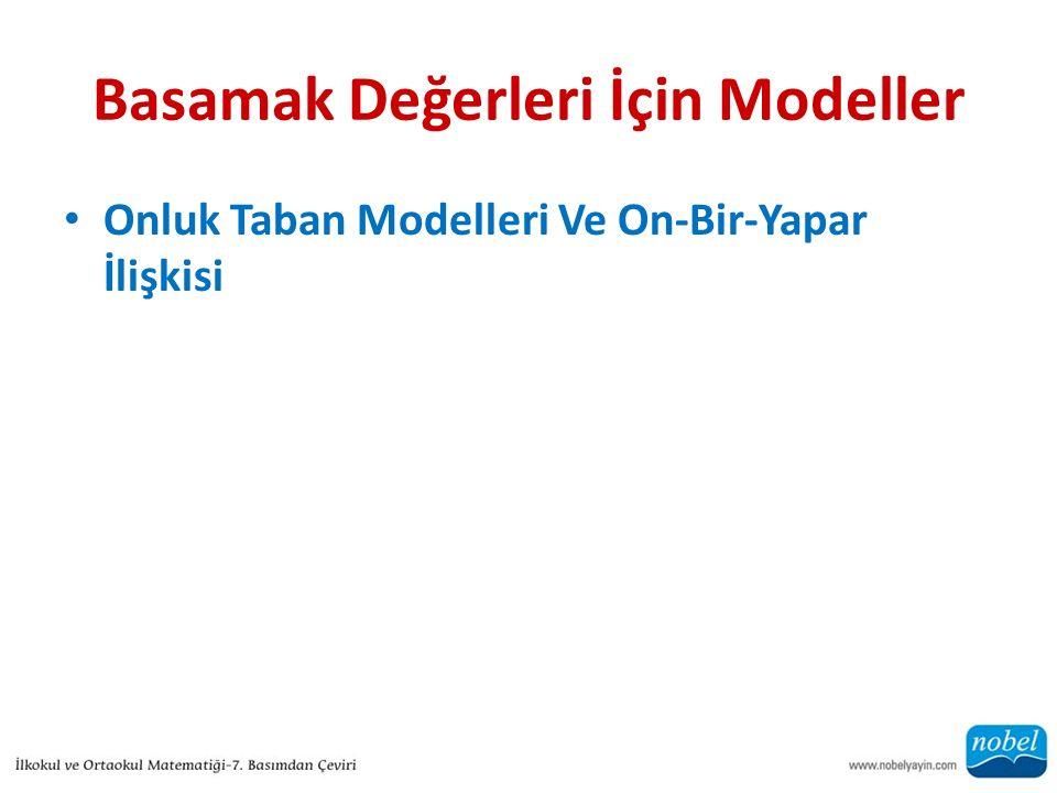 Basamak Değerleri İçin Modeller