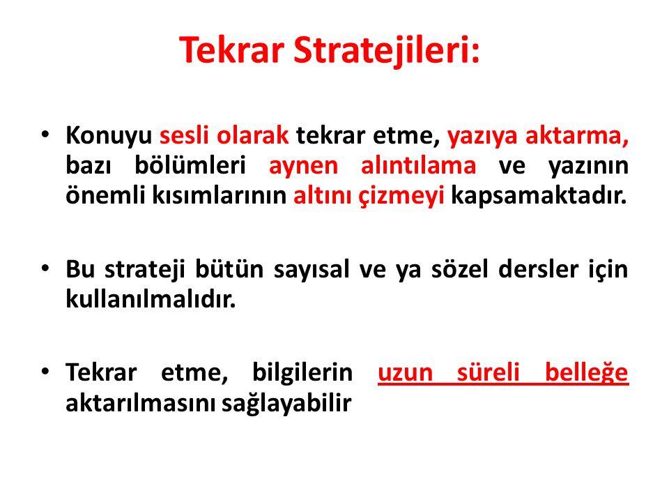 Tekrar Stratejileri: