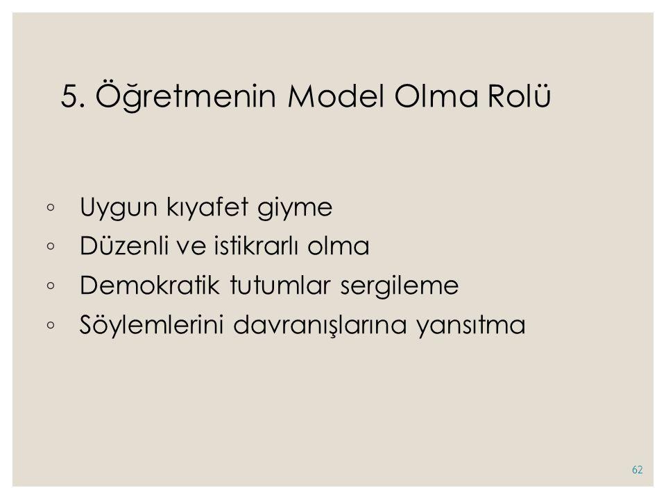 5. Öğretmenin Model Olma Rolü