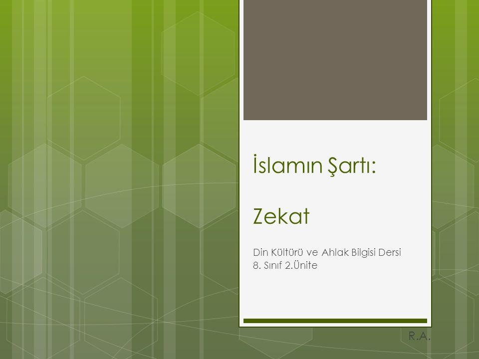 Din Kültürü ve Ahlak Bilgisi Dersi 8. Sınıf 2.Ünite