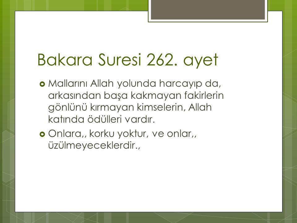 Bakara Suresi 262. ayet