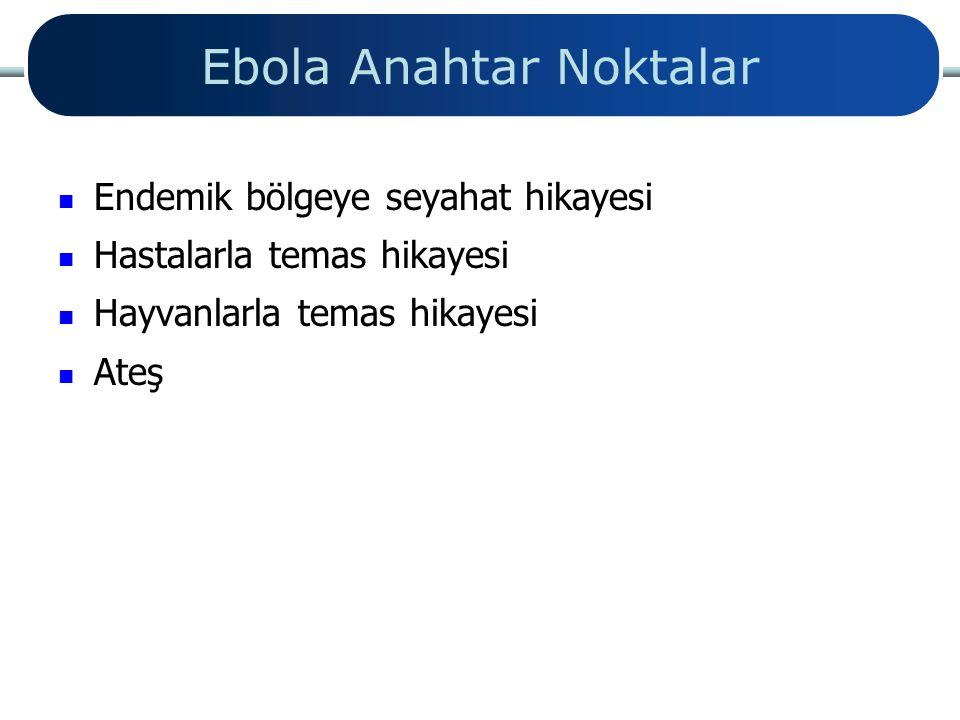 Ebola Anahtar Noktalar