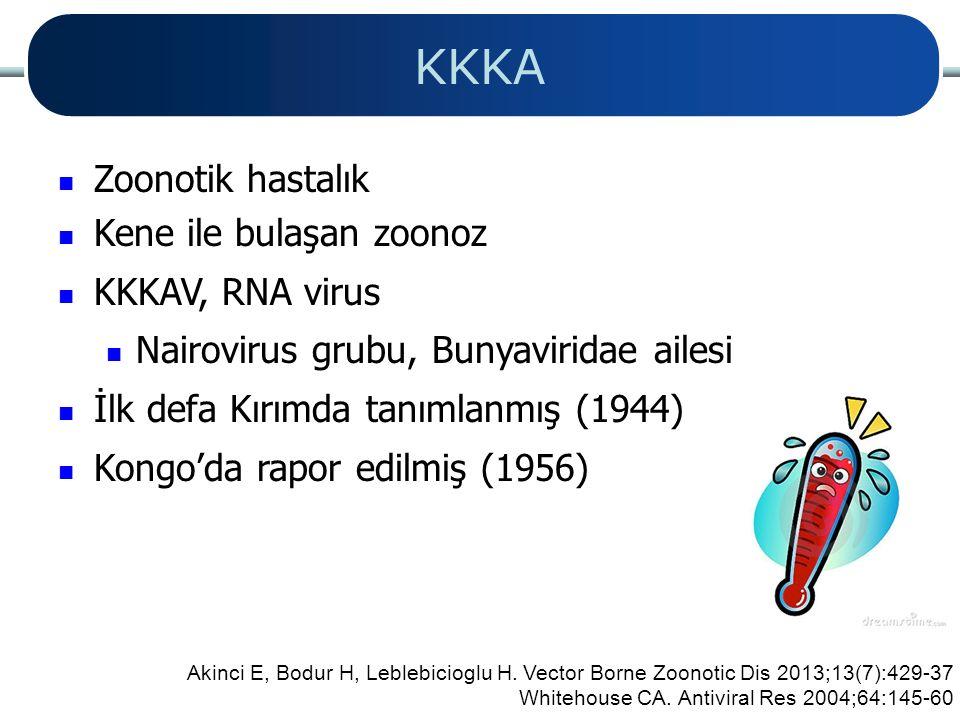 KKKA Zoonotik hastalık Kene ile bulaşan zoonoz KKKAV, RNA virus