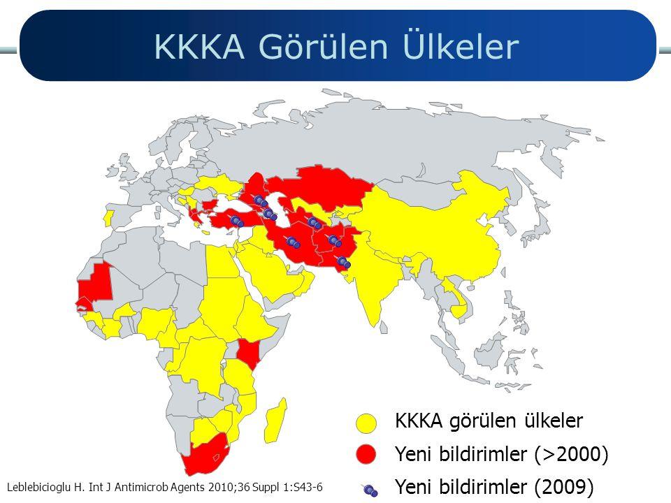 KKKA Görülen Ülkeler KKKA görülen ülkeler Yeni bildirimler (>2000)