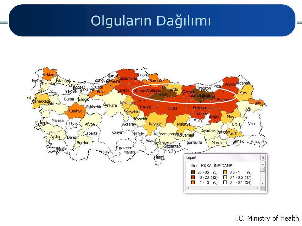 Olguların Dağılımı CCHF in Eurasia Hakan Leblebicioglu