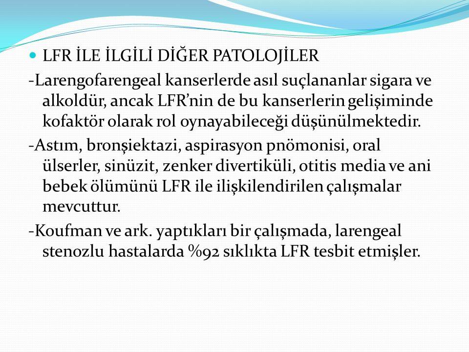 LFR İLE İLGİLİ DİĞER PATOLOJİLER