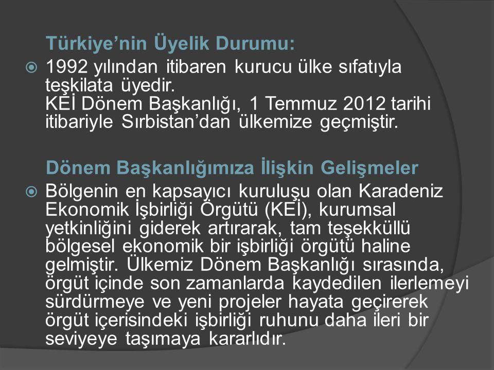 Türkiye'nin Üyelik Durumu: