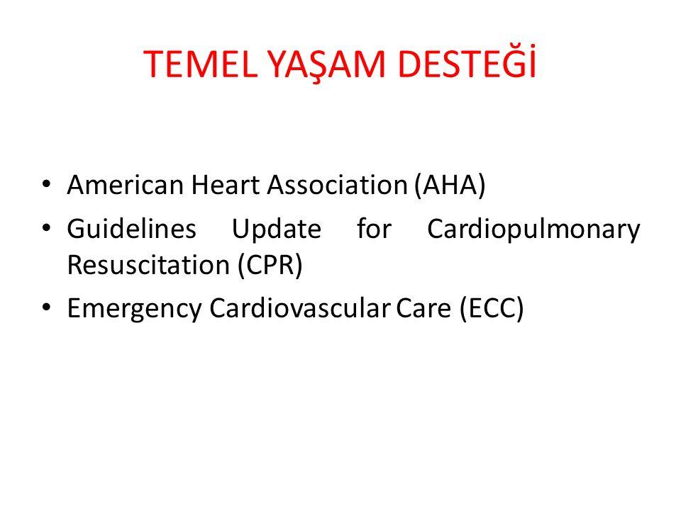 TEMEL YAŞAM DESTEĞİ American Heart Association (AHA)
