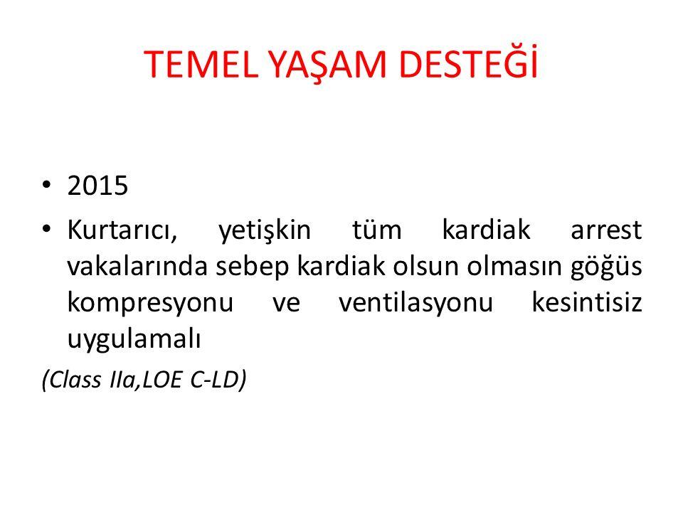 TEMEL YAŞAM DESTEĞİ 2015.