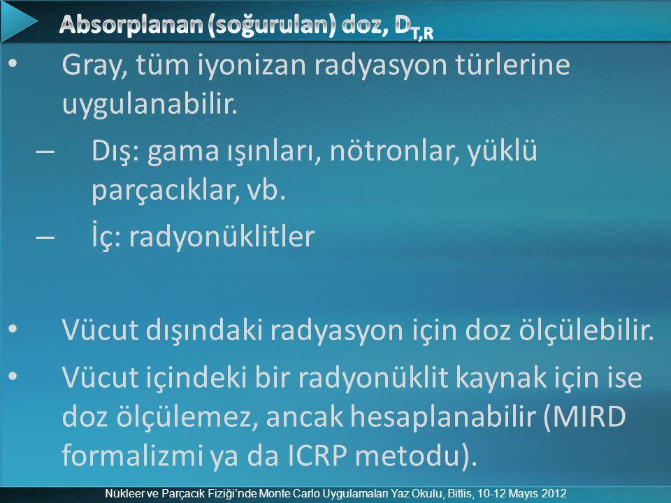 Absorplanan (soğurulan) doz, DT,R