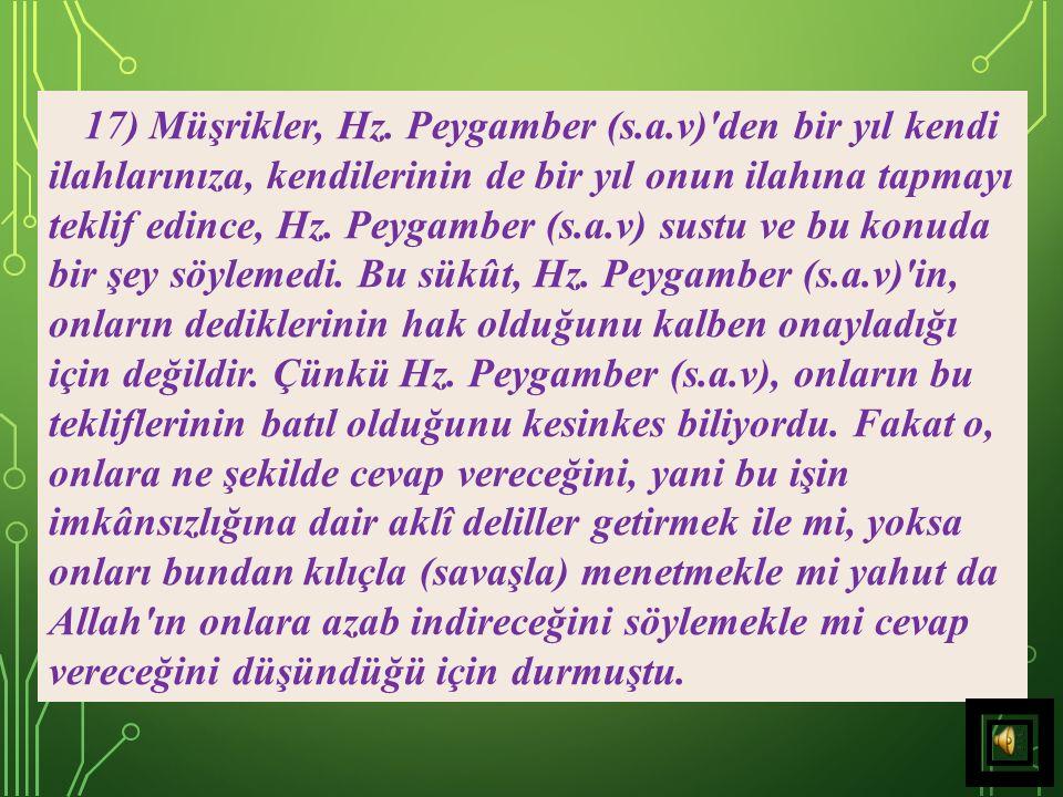 17) Müşrikler, Hz. Peygamber (s. a