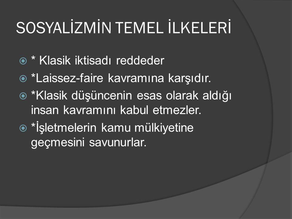 SOSYALİZMİN TEMEL İLKELERİ