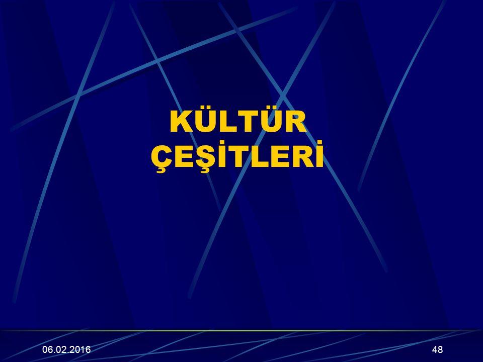 KÜLTÜR ÇEŞİTLERİ 27.04.2017