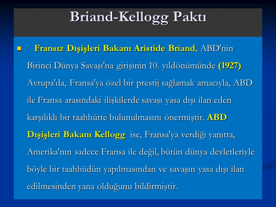 Briand-Kellogg Paktı