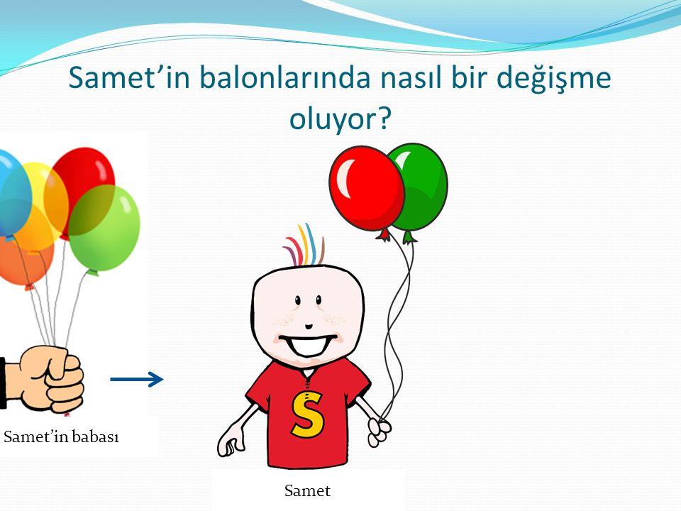 Samet'in balonlarında nasıl bir değişme oluyor
