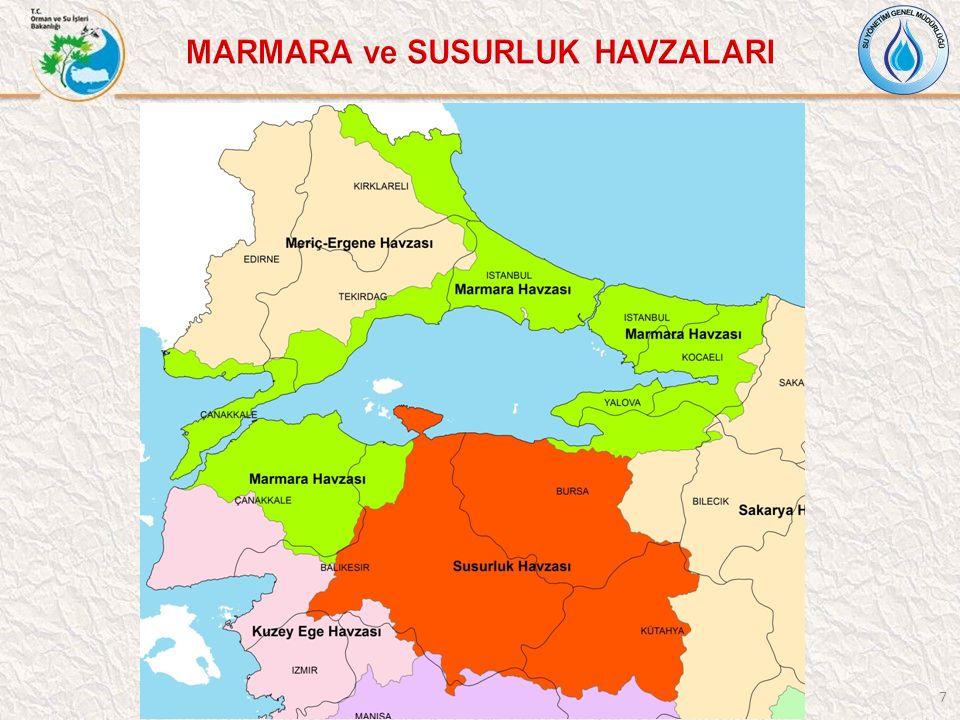 MARMARA ve SUSURLUK HAVZALARI