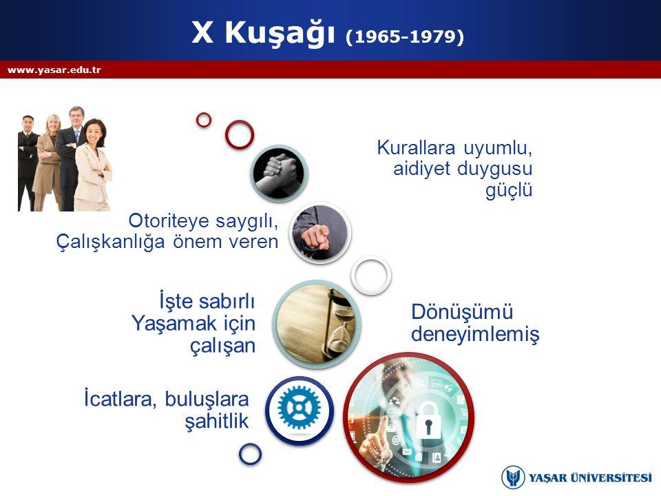 X Kuşağı (1965-1979) İşte sabırlı Yaşamak için çalışan