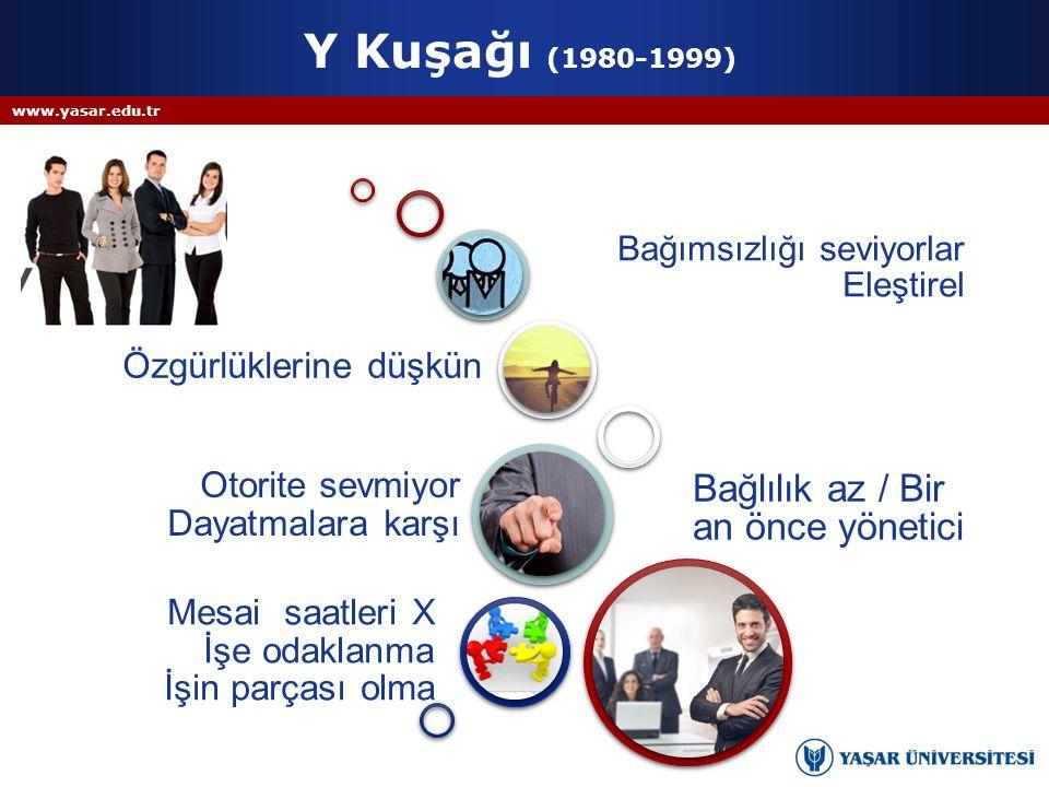 Y Kuşağı (1980-1999) Bağlılık az / Bir an önce yönetici