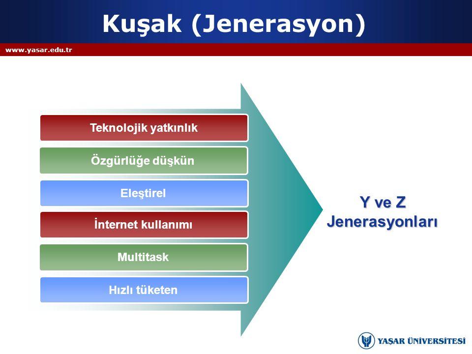 Kuşak (Jenerasyon) Y ve Z Jenerasyonları Teknolojik yatkınlık