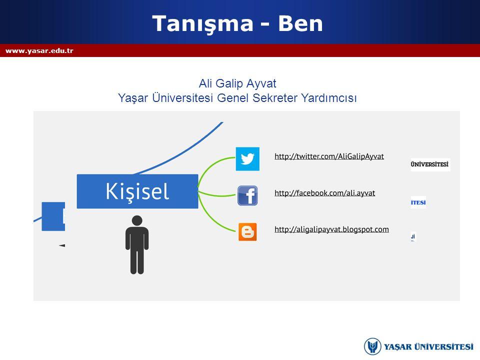 Yaşar Üniversitesi Genel Sekreter Yardımcısı