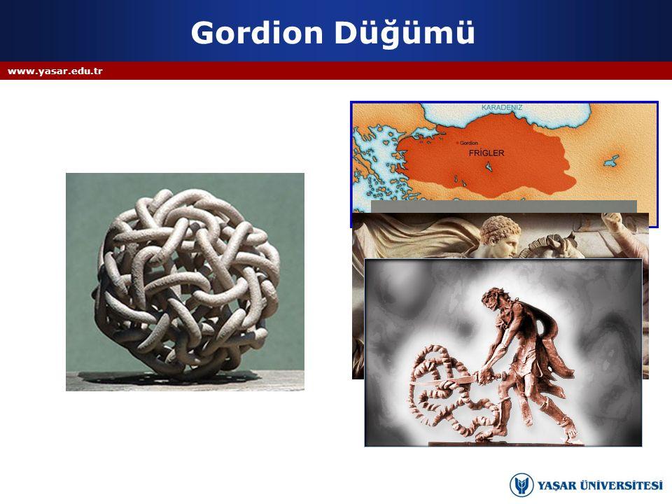 Gordion Düğümü www.yasar.edu.tr