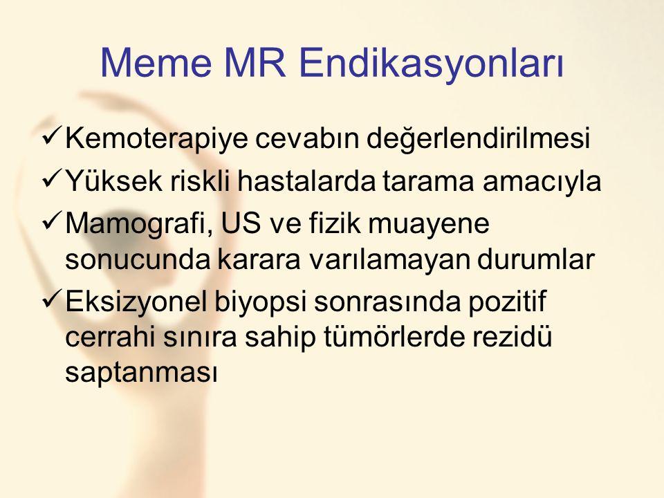 Meme MR Endikasyonları