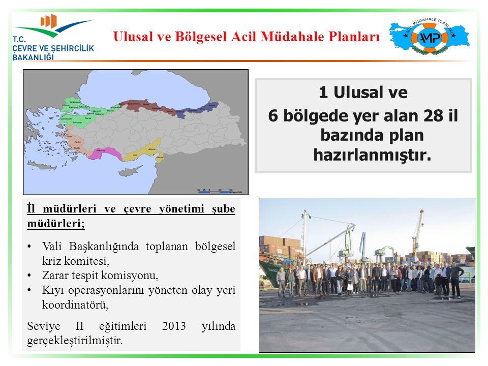 1 Ulusal ve 6 bölgede yer alan 28 il bazında plan hazırlanmıştır.