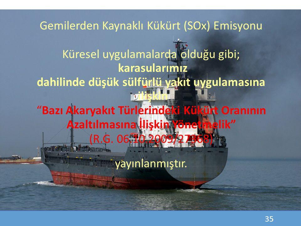 Gemilerden Kaynaklı Kükürt (SOx) Emisyonu