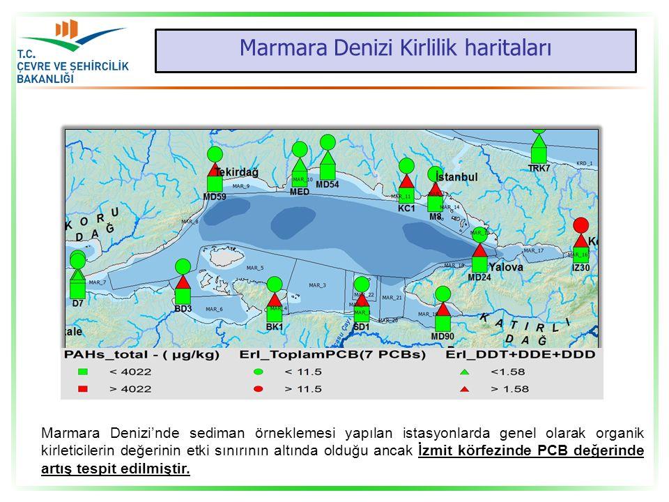 Marmara Denizi Kirlilik haritaları