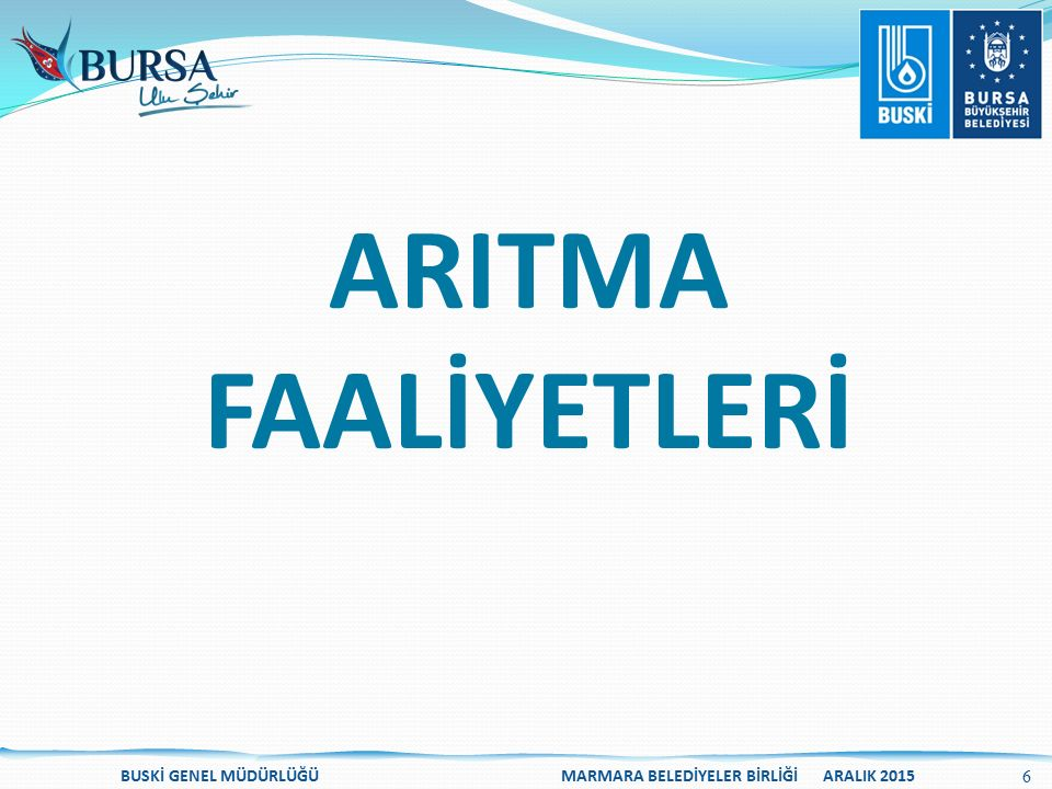 ARITMA FAALİYETLERİ.