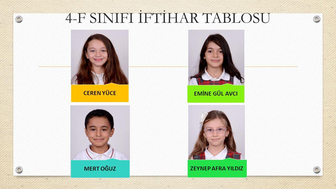 4-F SINIFI İFTİHAR TABLOSU