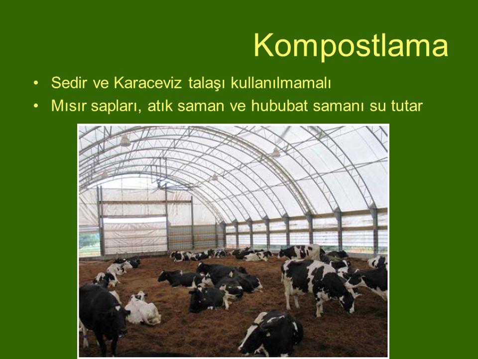 Kompostlama Sedir ve Karaceviz talaşı kullanılmamalı