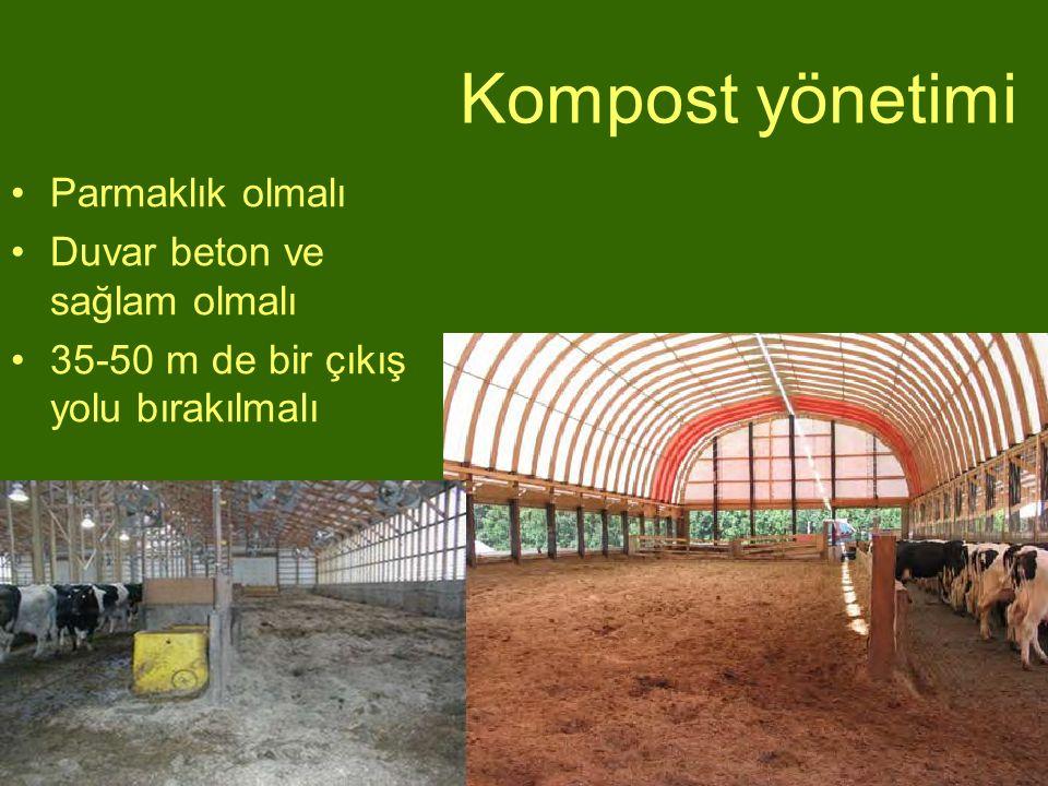 Kompost yönetimi Parmaklık olmalı Duvar beton ve sağlam olmalı